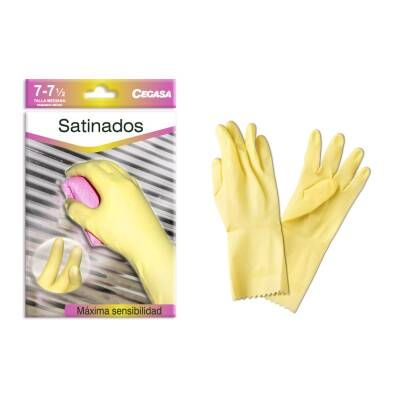 GUANTES LATEX SATINADO
