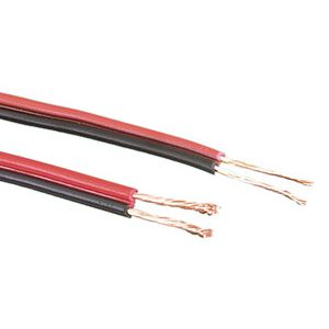 CABLE AUDIO PARALELO ROJO/NEGRO 2x2.5 mm² 1M
